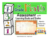 1st Grade Math Assessment with Marzano Proficiency Scales