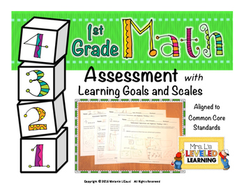 1st Grade Math Assessment with Marzano Scales Aligned to C