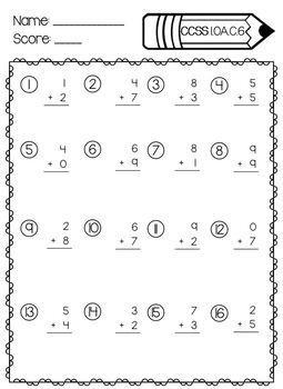1st Grade Math Assessments-All Common Core Aligned Standards