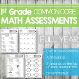 1st Grade Math Assessments- Common Core Aligned