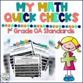 1st Grade Math Assessment  | Operations And Algebraic Thin
