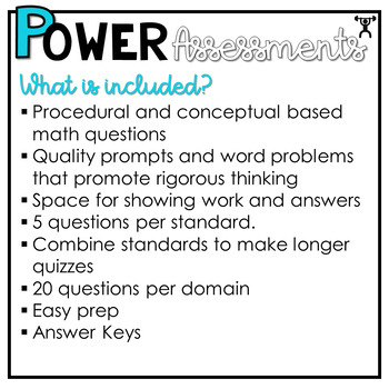 1st Grade Math Assessments | Test Prep | Quizzes and Tests POWER Problems™