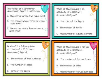 1st Grade Math: Attributes and Non Attributes of 2D & 3D Figures: TEKS 1.6B