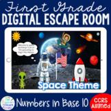 1st Grade Math Base 10 Digital Escape Room Game Distance L