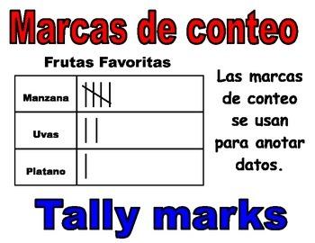 1st Grade Math Bilingual Vocabulary Cards