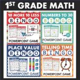 1st Grade Math Bingo Games for Powerpoint BUNDLE