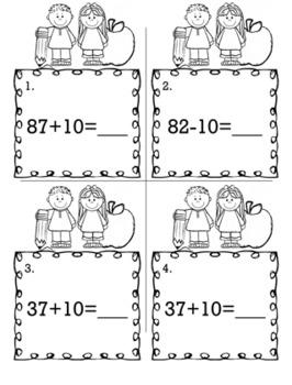 1st Grade Math Bundle  - Scoot Game/Task Cards