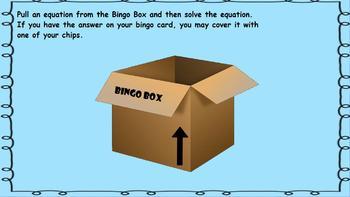 1st Grade Math CCSS Operations & Algebraic Thinking Bingo Game Promethean