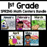 1st Grade Math Center Task Card Bundle January - May