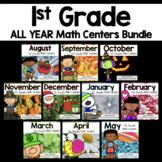 1st Grade Math Center Task Card Year Long Bundle