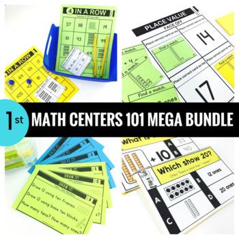 1st Grade Math Centers 101 MEGA BUNDLE