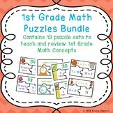 1st Grade Math Bundle 1st Grade Math Activities 1st Grade Math Game Puzzles