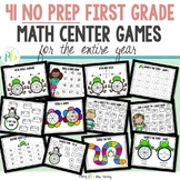 FIRST GRADE MATH CENTER GAMES (NO PREP)