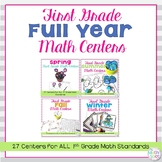 1st Grade Math Centers Full Year Bundle
