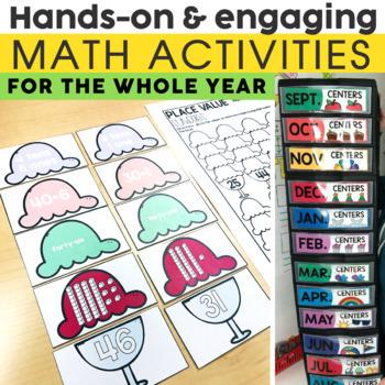 1st Grade Math Centers Growing Bundle