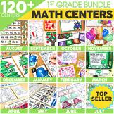 1st Grade Math Centers Bundle | Includes Halloween Activities
