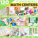 1st Grade Math Centers Bundle | Includes Thanksgiving Activities