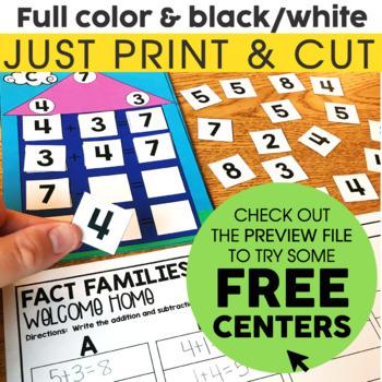 1st Grade Math Centers Bundle | 1st Grade Math Games & Activities
