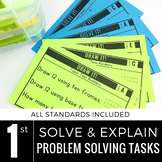 1st Grade Math Centers   Problem Solving   Solve and Explain