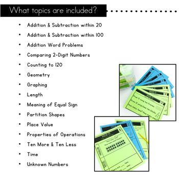 1st Grade Math Centers | Problem Solving Tasks