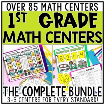 1st Grade Math Centers for Every Standard GROWING Bundle