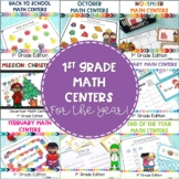 1st Grade Math Centers for the WHOLE YEAR!