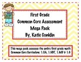 1st Grade Math Common Core Assessment Mega Pack