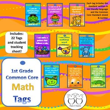 1st Grade Math Common Core Brag Tags