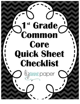 1st Grade Math Common Core Checklist