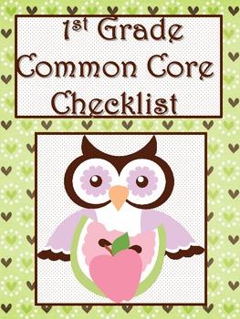 1st Grade Math Common Core Checklist - Lesson Planning Form - OWL