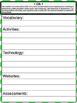 1st Grade Math Common Core Checklist - Lesson Planning Form - Green Chevron