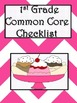 1st Grade Math Common Core Checklist - Lesson Planning Form - Pink Chevron