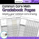 1st Grade Math Common Core Gradebook Pages