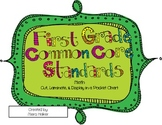 """1st Grade Math Common Core Standards & """"I Can"""" Statements"""