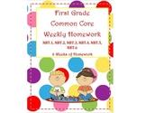 1st Grade Math Common Core Weekly Homework NBT (6 weeks of HW)
