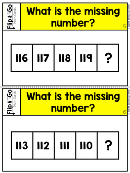 Count to 120 - 1st Grade Math Flip and Go Cards