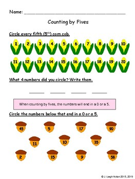 Counting by Fives & Tens Math Packet - Week 13