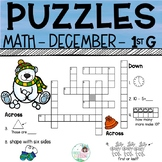 1st Grade Math Crossword Puzzles - December