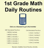 1st Grade Math Daily Routines