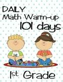 1st Grade Math, Daily morning Warm Ups.  (No prep just Print)