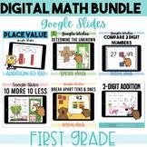 Games for First Grade Math - GOOGLE CLASSROOM Bundle 1