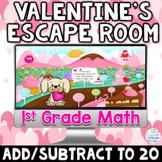 1st Grade Math Digital Valentines Day Escape Room Game   A