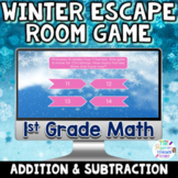 1st Grade Math Digital Winter Escape Room Game | Addition & Subtraction Review