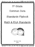 1st Grade Math & ELA Common Core Standards Flipbook: Bundle