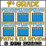 1st Grade Math & ELA Game Show Review BUNDLE