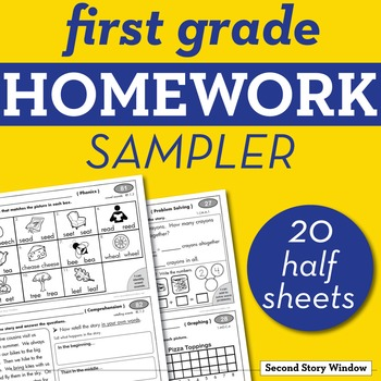 1st Grade Math & ELA Homework Sampler