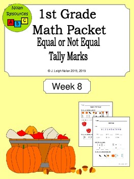 Equal vs Not Equal Math Packet - Week 8