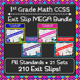 The ⭐ULTIMATE⭐ 1st Grade Math Exit Tickets/Slips Bundle