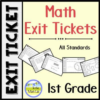 Exit Tickets 1st Grade Math - BUNDLE ALL STANDARDS