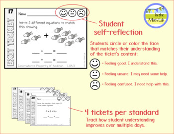 Quick Assessments Math Exit Tickets - BUNDLE ALL STANDARDS